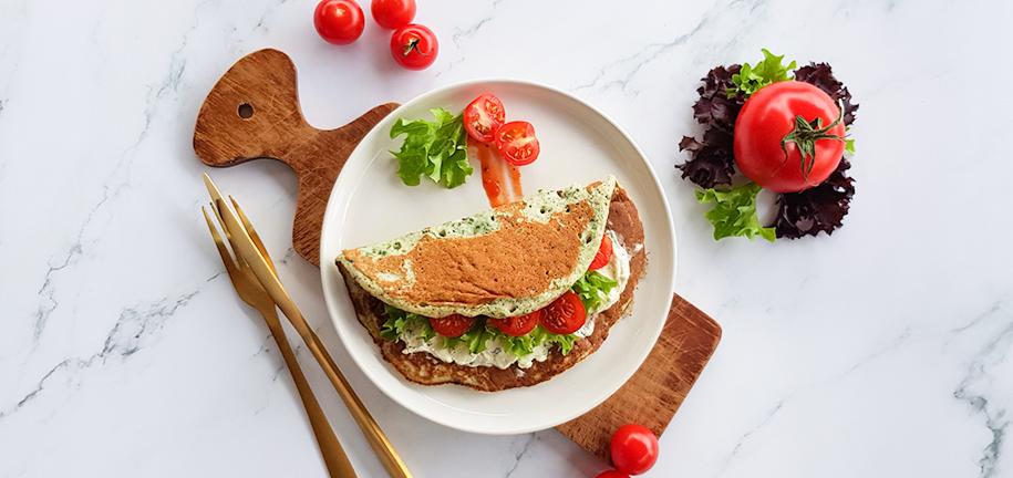 Recept van de week: Super spinazie-pannenkoeken